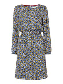 Dickins & Jones Wendy Waisted Spot Printed Dress