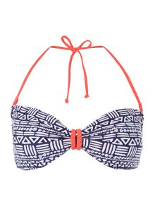 Dickins & Jones Tribal Print Bikini Top