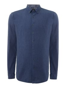 Lindbergh Long sleeve cotton linen shirt