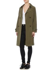 Lost Ink Long Sleeved Classic Belted Trench