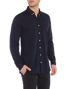 Lindbergh Long sleeve pique shirt