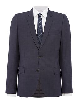 Notch Pindot Suit Jacket