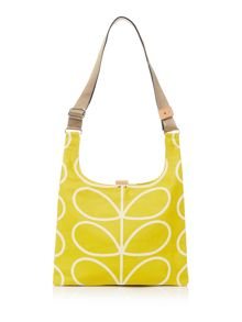 Orla Kiely Linear stem yellow shoulder sling bag