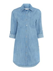 Seafolly Journey chambray shirt dress