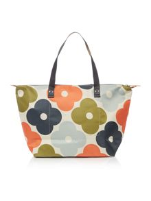 Orla Kiely Giant flower spot multicolour shopper bag