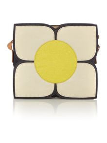 Orla Kiely Square flower black small sling bag