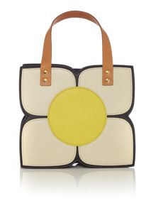 Orla Kiely Square flower black small grab bag