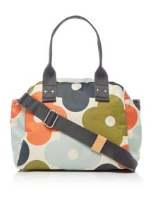 Orla Kiely Giant flower spot multicolour zip handbag