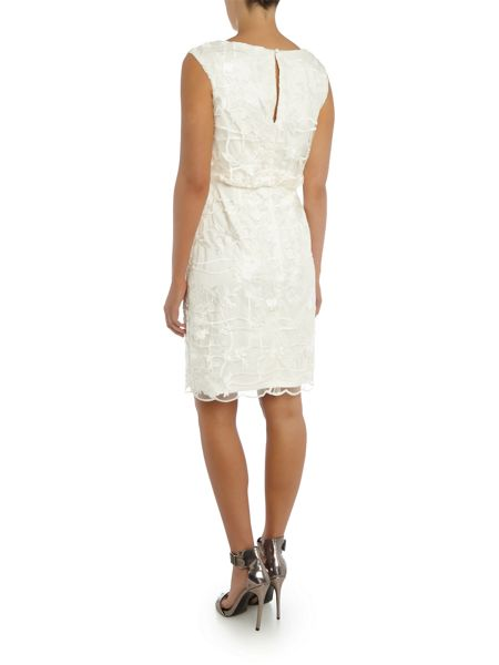 Adrianna Papell Blouson lace shift dress