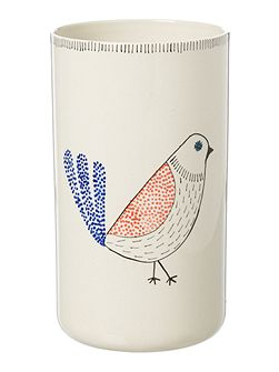 Timmy bird column vase