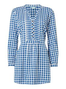 Dickins & Jones Tiffney Checked Tunic Top
