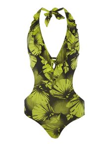 Biba Palm Cut Out Swimsuit