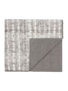Gray & Willow Painted check quilt