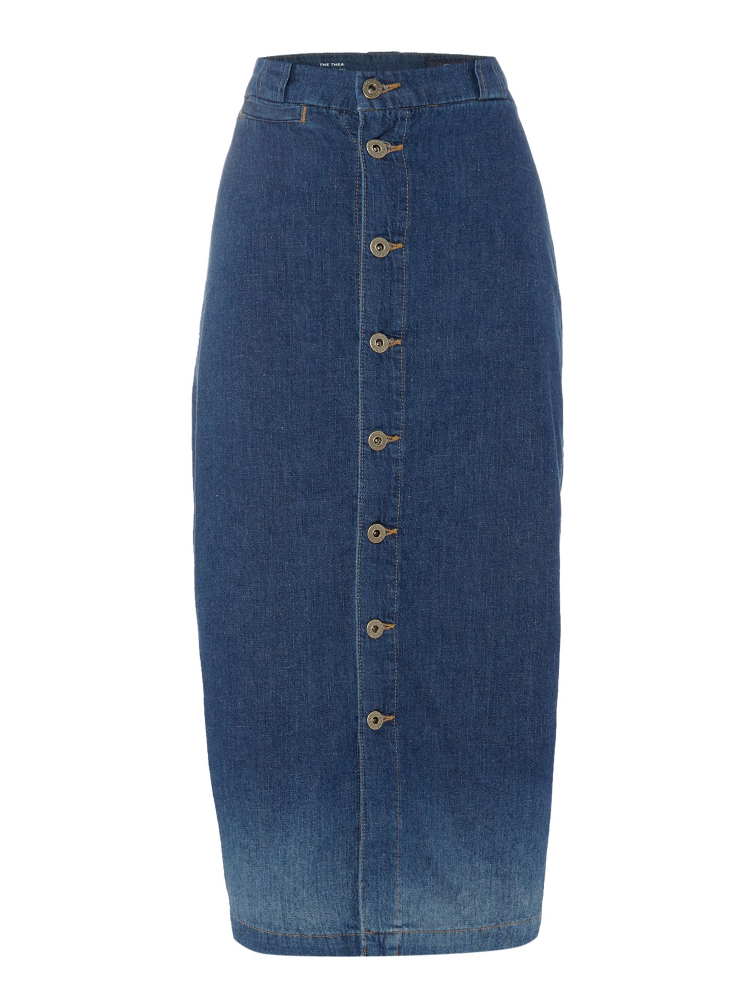 AG Jeans The thea denim skirt in desert cafe, Denim