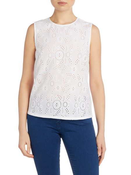 AG Jeans The teagan shell broderie top