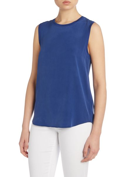 AG Jeans The everst silk tee in colonial blue