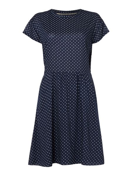Dickins & Jones Diamond Printed Dress with Waist Tie