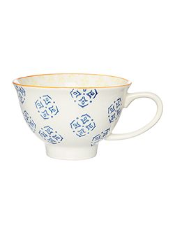 Large Blue Tile Mug