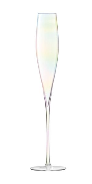 LSA Celebrate Champagne Flute Mother of Pearl x 2