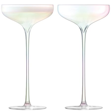 LSA Celebrate Champagne Saucer Mother of Pearl x 2