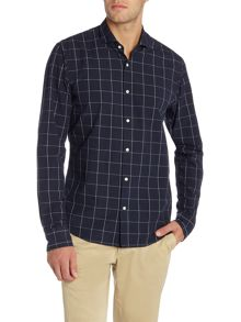 Scotch & Soda Easy open woven check shirt.