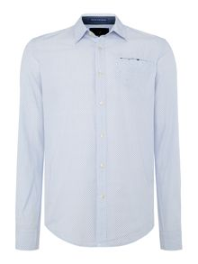 Scotch & Soda Crispy poplin shirt with fixed pochet.