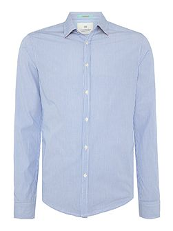 Crispy poplin shirt with print
