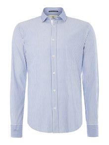 Scotch & Soda Lightweight longsleeve 2-tone shirt
