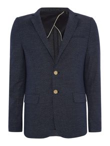 Scotch & Soda Lightweight blue yarn dyed blazer.
