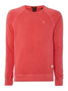 Scotch & Soda Garment dyed basic crewneck sweat
