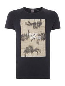 Scotch & Soda Shortsleeve tee with photoprint artwork.