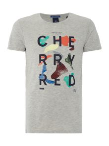 Scotch & Soda Shortsleeve tee with chest artwork.