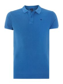 Scotch & Soda Classic garment dyed pique polo.