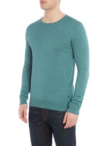 Scotch & Soda High twist cotton melange crewneck pull.