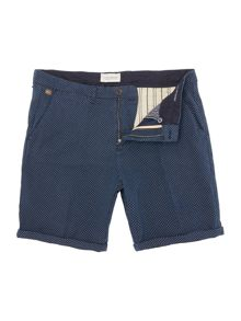 Scotch & Soda Yarn dyed herringbone chino short.