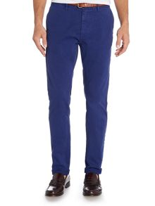 Scotch & Soda Basic garment dyed slim fit chino pant.