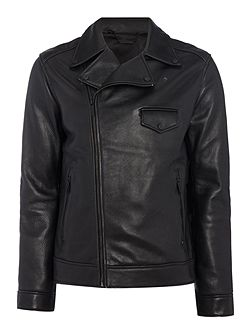 Michigan Leather Biker Jacket
