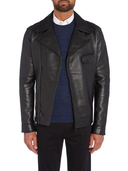 Kenneth Cole Michigan Leather Biker Jacket
