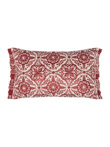 Linea Fable flower embroidered cushion