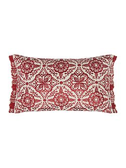 Fable flower embroidered cushion