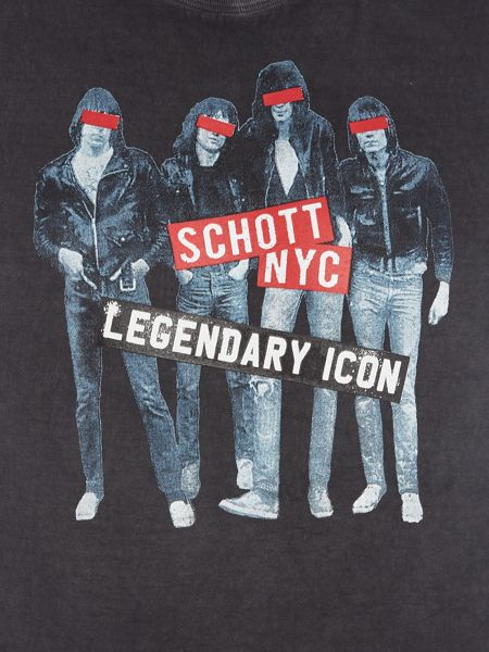 Schott NYC Regular fit legendary icons printed t shirt