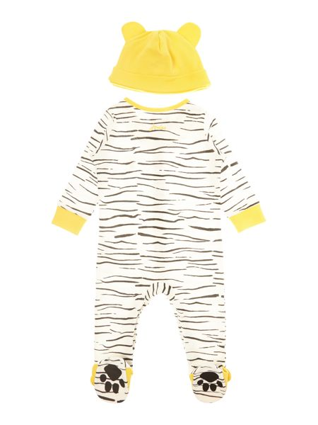 Joules Boys Tiger stripe All in one with hat