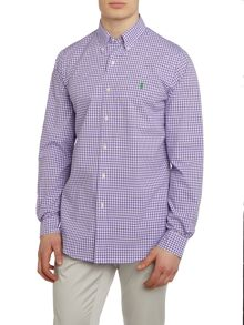 Polo Ralph Lauren Poplin gingham custom fit long sleeve shirt