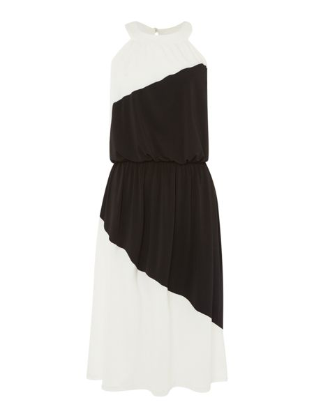 Therapy Harper Halterneck Colour Block Midi Dress