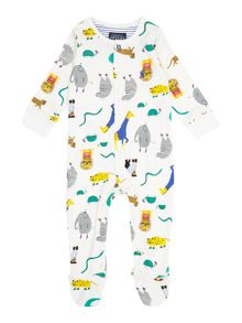 Joules Boys Zoo print All in one