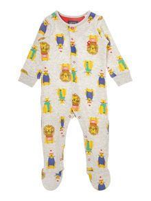 Joules Boys Lion print All in one
