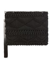 Label Lab Atwood macrame clutch bag
