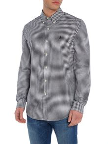 Polo Ralph Lauren Poplin check custom fit long sleeve shirt