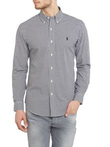 Polo Ralph Lauren Poplin slim fit long sleeve checked shirt