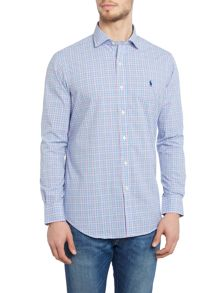 Polo Ralph Lauren Poplin long sleeve multi gingham shirt